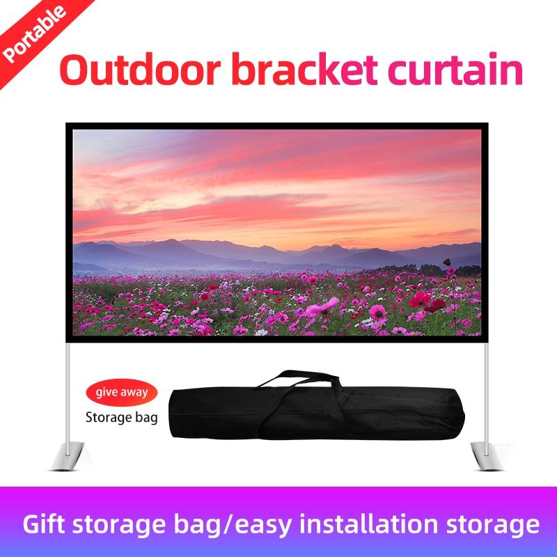 Прожектор VEIDADZ защитный портативный складной экран 16:9 84 100 120 дюймов для дома и улицы KTV офисный 3D HD Проекционный экран