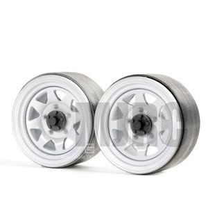 Image 2 - 4 шт. 1,9 дюйма металлическая Ступица колеса обод Beadlock для 1/10 Rc Гусеничный автомобиль Trx4 Bronco Rc4wd D90 D110 Axial Scx10 90046 Jimny Cfx Vs4