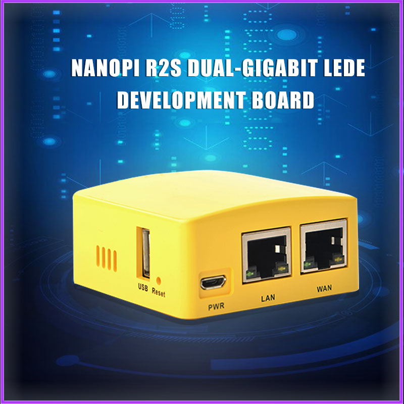 Nanopi R2S Brush DIY Router OpenWRT RK3328 True Double Gigabit Port LEDE Development Board