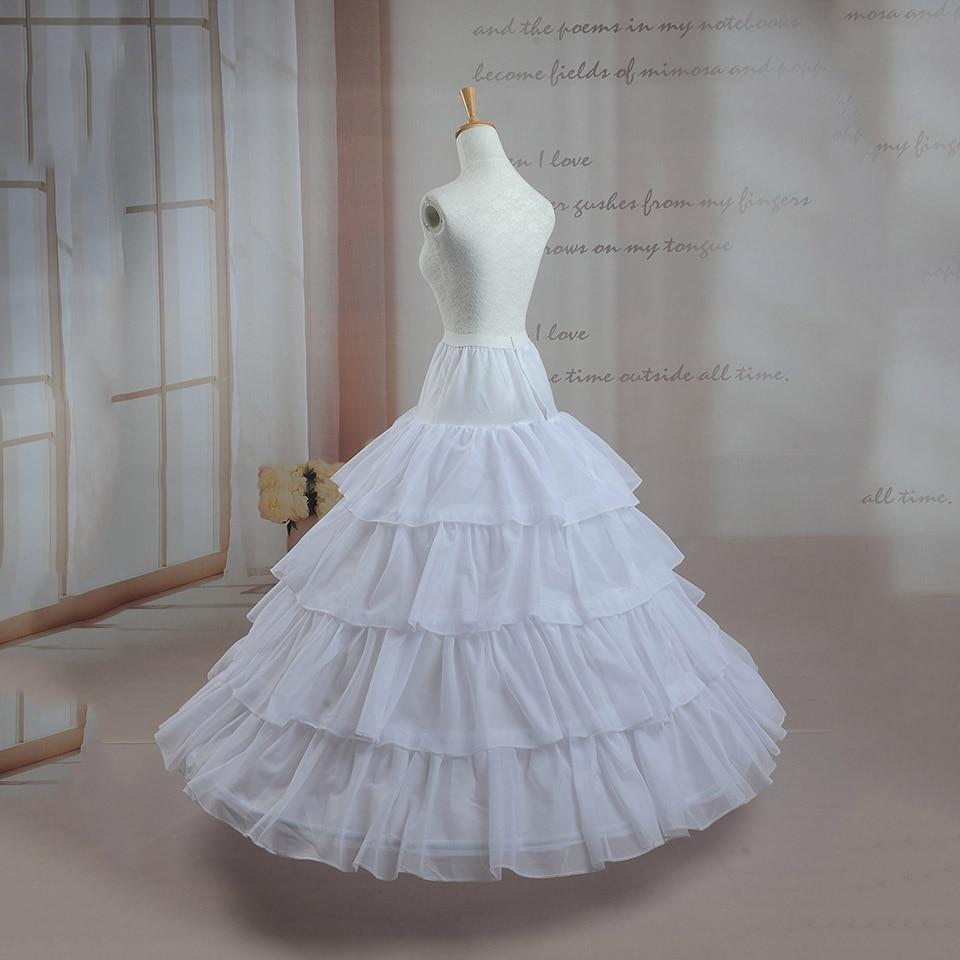 Dressv Cheap Wedding Petticoat Jupon Long Crinoline Slip Underskirt For A-line Wedding Dress 4 Layers Wedding Accessoires