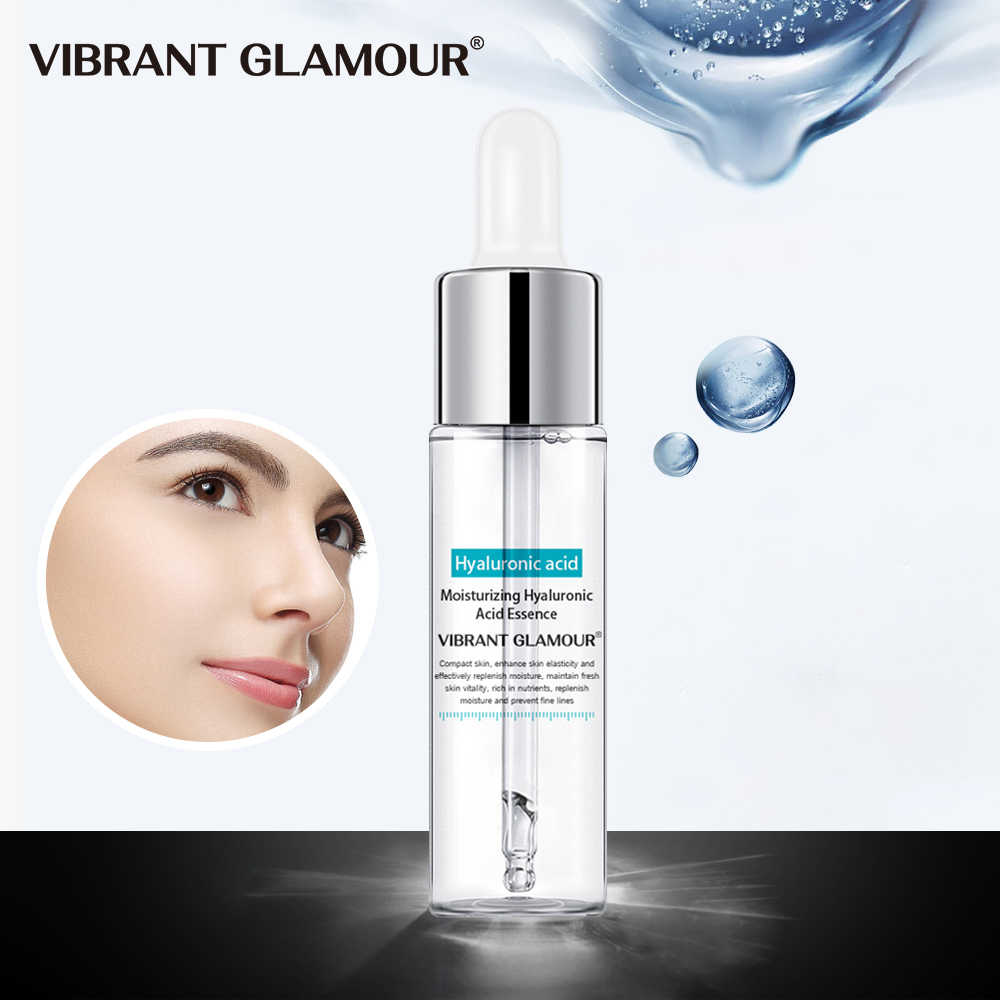 VIBRANT GLAMOUR Hyaluronic Acid Shrink Pore Face Serum Anti-Aging Moisturizing Whitening Essence Face Cream Dry Skin Care 15ml