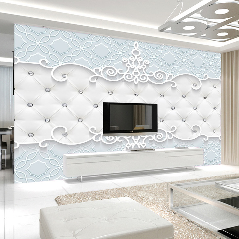 3D Chinese Style Soft Bag Wallpaper Large Sofa Bedroom Bedside Seamless Wall Cloth Film And Television Wallpaper