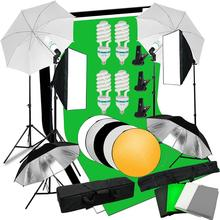 2x3m Background Support System 135W 5500K Umbrellas Softbox Continuous Lighting Kit Backdrop Photography Reflector Tripod Stand