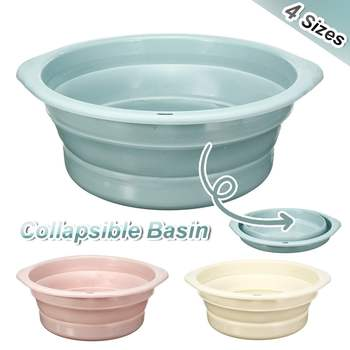 Folding Bucket Portable Collapsible Basins Car Washing Tool Vegetable Fruit Basin High Capacity Household Cleaning Supplies 2