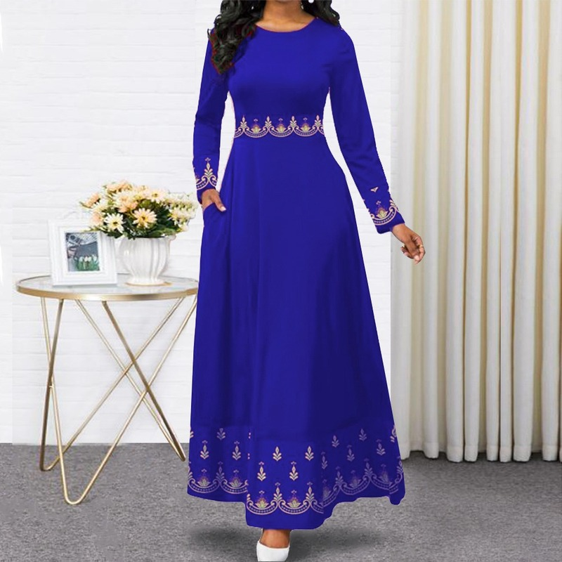 2020 indonesia gown hijab bangladesh plus size dress 5XL dubai blue abaya for women pakistan muslim
