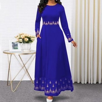 2020 indonesia gown hijab bangladesh plus size dress 5XL dubai blue abaya for women pakistan