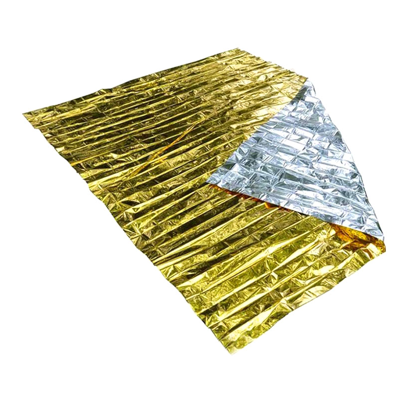 160 X 210cm Emergency Foil Mylar Blanket Rescue Thermal Aids Retain Body Heat For Camping  New Sale