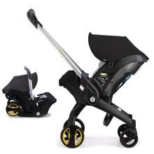 Luxury Baby Stroller 4 in 1 Trolley Newborn Baby Car Seat Stroller Travel Pram Stoller Baby Bassinet Pushchair Carriage Basket
