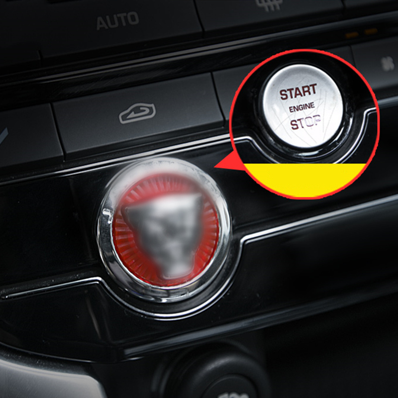 Car Start Button Decoration Cover Ignition Switch Protection Sticker For Jaguar XE XF XEL XFL F-PACE Car Styling Accessories