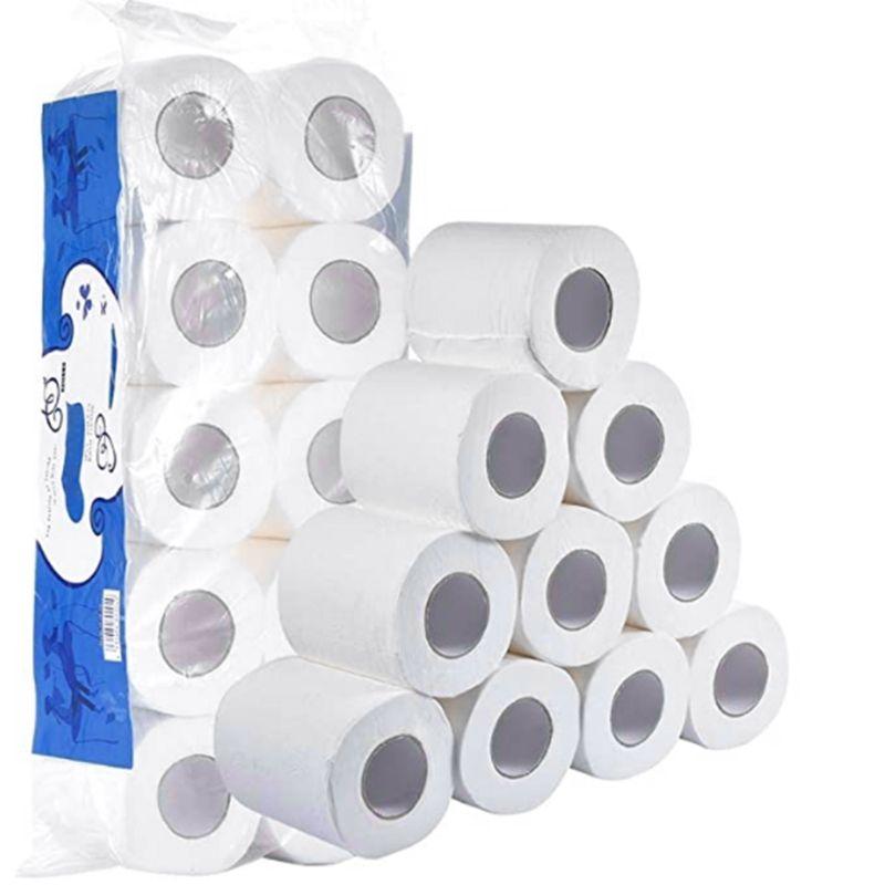 10 Rolls Toilet Paper No Fluorescent Agent Soft Stronge 3-Ply Sheets Bath Tissue