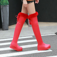 Women's Shoes Snow-Boots Over-The-Knee-Boots Waterproof Winter Fashion Fall Really Long-Mouth