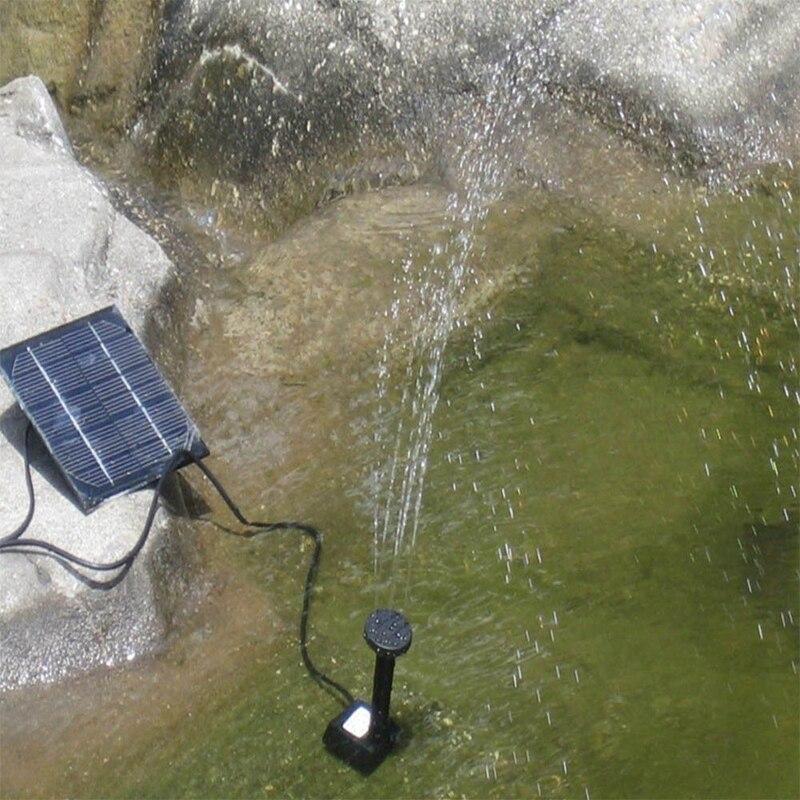 Neue Solar Panel Power Tauch Brunnen Freien kreative Pool Teich Garten Wasser Pumpe Kit