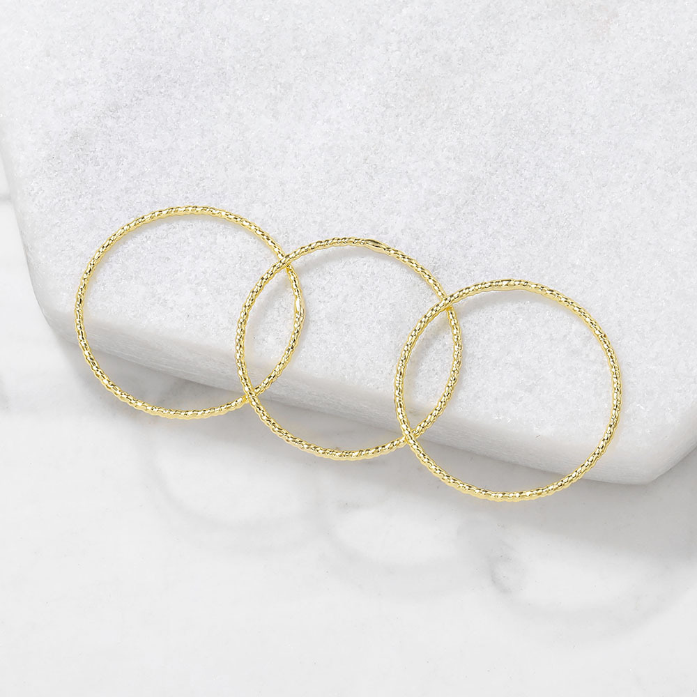 10PCS 18MM 24K Gold Color Plated Brass Round Circle Jump Rings Closed Rings High Quality Diy Jewelry Accessories