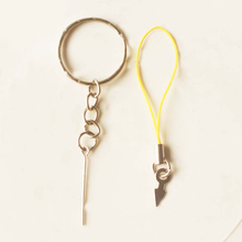 Key chain nine-pin clay doll accessories hang rope DIY accessories 10pcs/pack