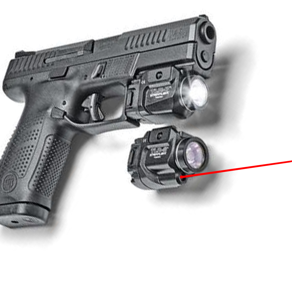 TLR Compact LED Weapon Light With Red Laser Sight For Pistol Hunting Glock 1 7 8 Laser Flashlight Fit Hk USP SIG CZ-0