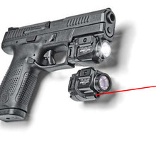 Tlr compacto led arma luz com mira laser vermelho para pistola caça glock 1 7 8 laser lanterna caber hk usp sig cz