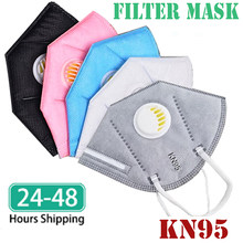 10/50/ 100 Pcs Protection Respirator Dust Filter KN95 Mask Black Face Mouth Mask Pink White Respirators FFP2 KN 95 Masque