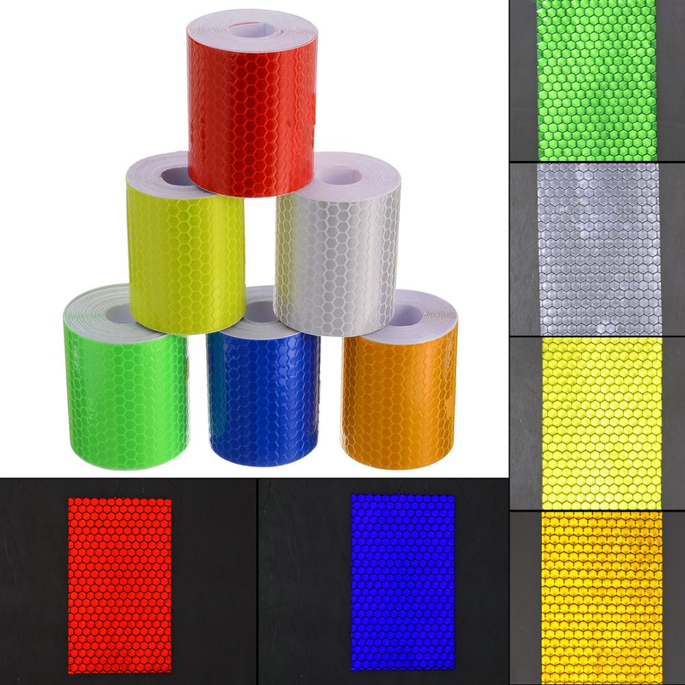 Car Reflective Tape Sticker Automobile Motorcycles Safety Warning Tape Reflective Film Car Stickers Luminous Decorative Tape
