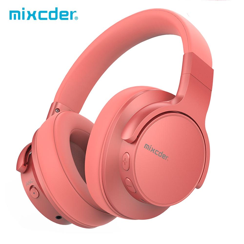 Mixcder E7 Active Noise Cancelling Fones de Ouvido Sem Fio Bluetooth Fone De Ouvido V5.0 ANC Headset para o Telefone de Carregamento Rápido