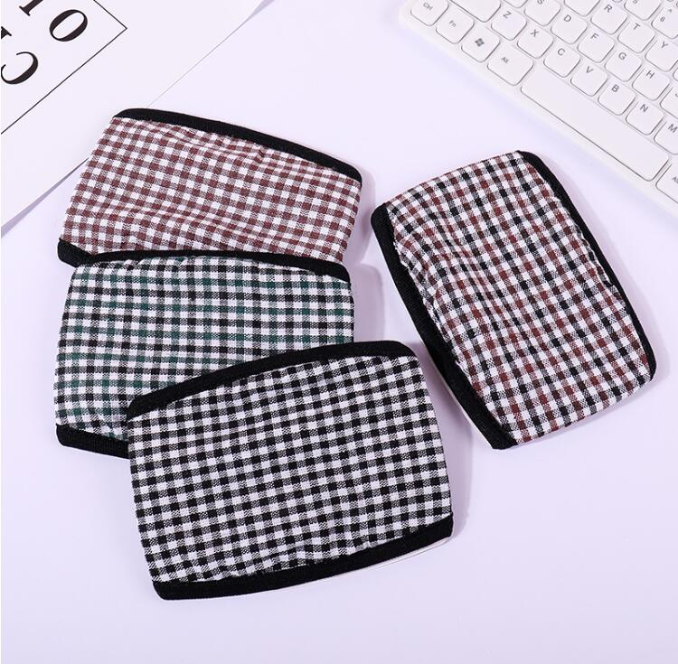 Men's Thicken Warm Plaid Cotton Masks Male PM 2.5 Breathable Warm Mouth-muffle R2311