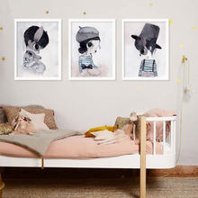 Bunny Girls Boy Home Decor Canvas Painting Rabbit Hanging Painting Wall Painting Nightmare Before Christmas Cute Nursery Kawaii(China)