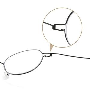 Image 5 - عالية الجودة خفيفة الوزن التيتانيوم البيضاوي نظارات دائرية للرجال النساء البصرية وصفة النظارات الإطار الكورية oculos دي غراو