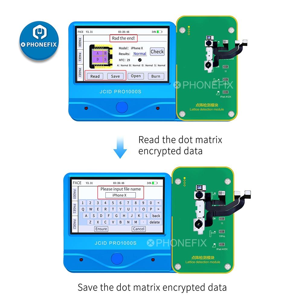 JC dot matrix detection JCID Pro1000S JC dot matrix flex cable for iPhone X-11 Face ID