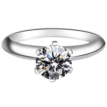 Moissanite Ring Classic Style Round Cut Ring Single Row Diamond Engagement Anniversary Ring 1ct 2ct 5ct image