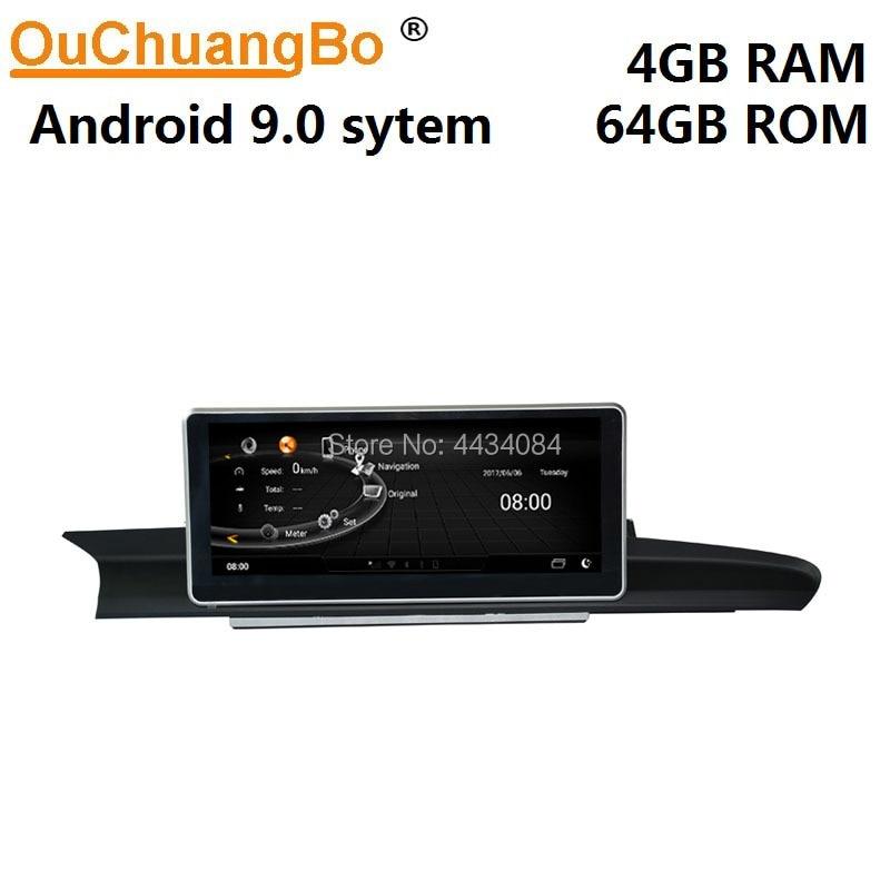 Jogador de áudio estereofônico de ouchuangbo gps do carro para a6 a7 c7 2012-2018 suporte 1920*720 8 núcleo 4 gb + 64 gb android 9.0 os
