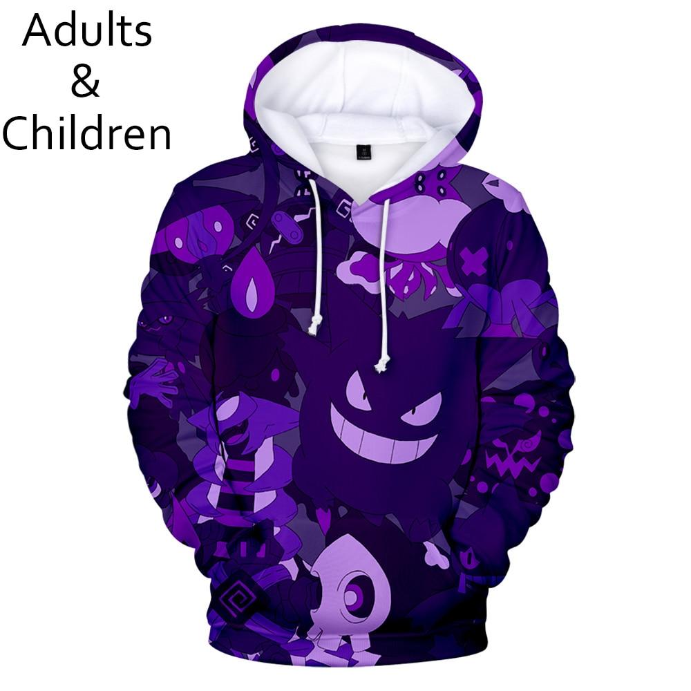 3D Pokemon New Fashion Cartoon Men  Women Hoodies Popular Children Spring And Autumn Casual Pullovers Kids Hip-hop Sweatshirts