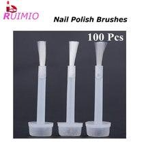 100 stücke Nagellack Ersatz Pinsel Tauch Flüssigkeit Applikator Pinsel Maniküre Werkzeuge