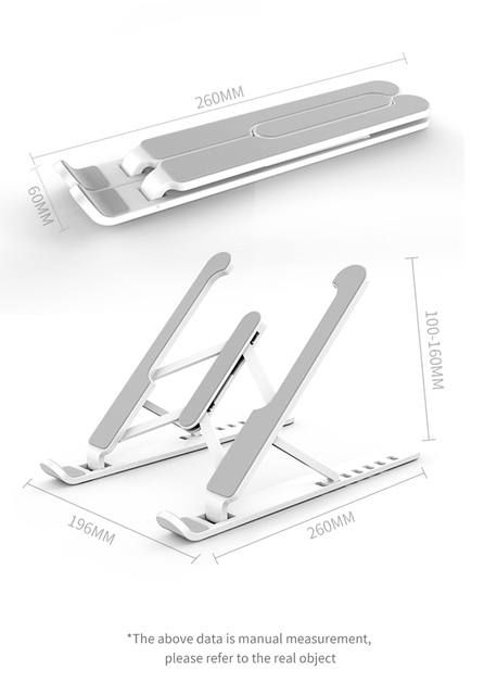 Adjustable Foldable Laptop Stand Non-slip Desktop Laptop Holder Notebook Stand sFor Notebook Macbook Pro Air iPad Pro DELL HP 3