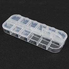 12 Slots Cells Transparent Portable Jewelry Tool Storage Box Container Ring Electronic Parts Screw Beads Organizer Plastic Box стоимость