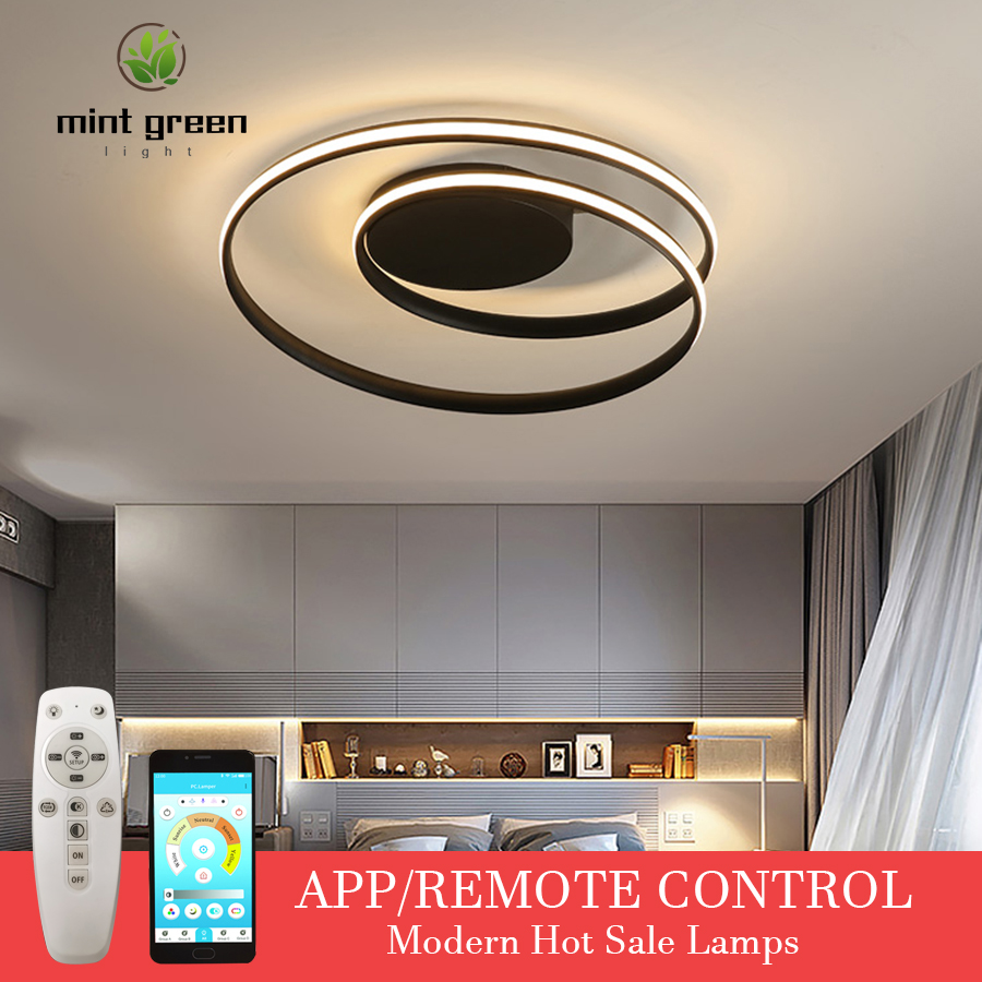 Hot Sale Modern LED Ceiling Lights For Living Room Bedroom Dining Room Luminaires White&Black Ceiling Lamps Fixtures AC220V