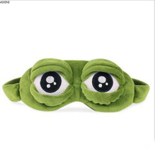1 Pcs Funny Creative The Frog Sad 3D Eye Mask Cover Cartoon Plush Sleeping Cute Anime Gift Kawaii Christmas Toy
