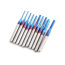 Mill-Cutter Cutting Cnc Router Bits Pcb-Machine Engraving Grinding Carbide Blue for Titanium-Coated