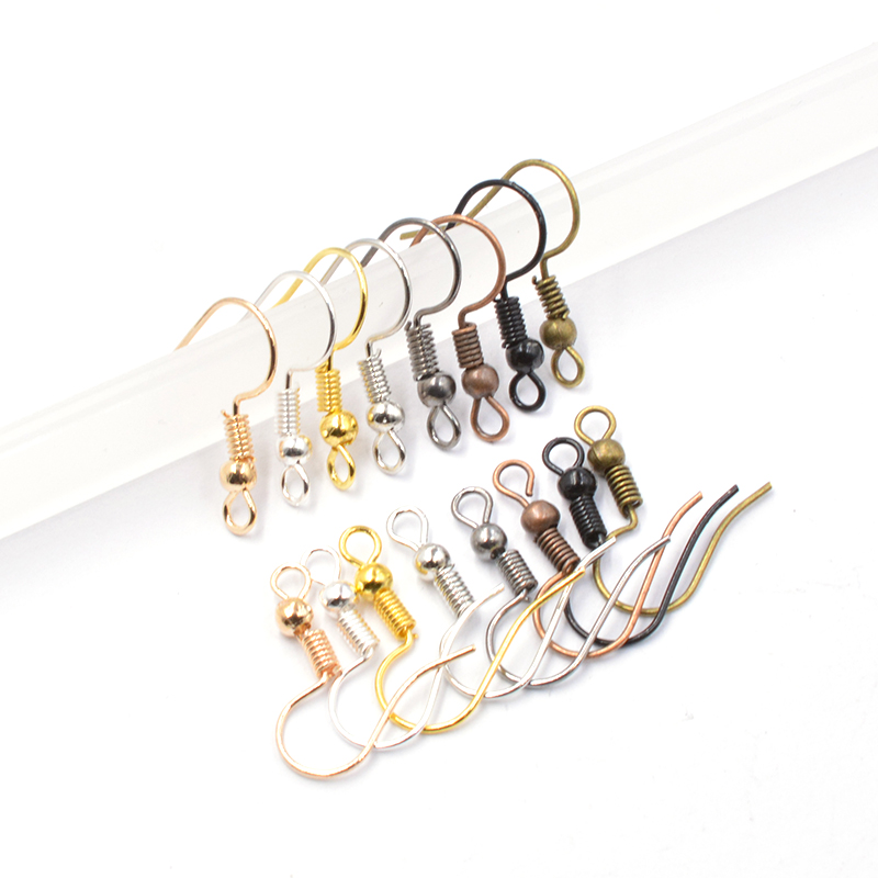 100pcs/lot 8 Color Earring Findings Earrings Clasps Hooks Fittings DIY For DIY Jewelry Making Supplies Accessories