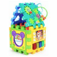 Baby Activity Toddler Toys 6 in 1 Shape Sorter Toys Baby Activity Play Centers for Kids Infants Early Development Educational