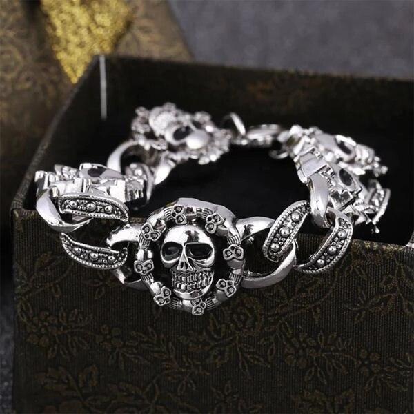 Punk Skull Bracelet Men...