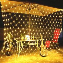 New Year LED Net Mesh String Light Garland Baby Shower Weddi