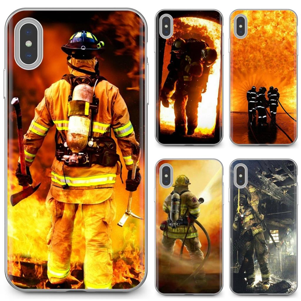 Buy Silicone Phone Case Firefighter Heroes Fireman For iPhone 11 Pro 4 4S 5 5S SE 5C 6 6S 7 8 X 10 XR XS Plus Max For iPod Touch(China)
