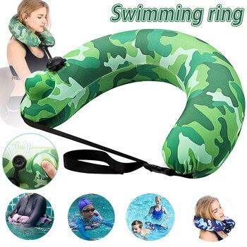 Плавательный ремень портативный надувной плавательный круг бассейн поплавок подушка для путешествий для бассейна пляж DOG88