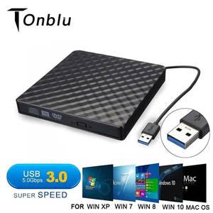 DVD Burner Reader-Player Cd-Writer Optical-Drive Laptop External Portable Slim RW USB3.0