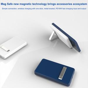 Image 5 - 15W dla iPhone 12 Mini Max Magsafe Qi bezprzewodowa ładowarka 5000mAh Power Bank dla iPhone 12 11 Pro wspornik zapasowy przenośny Powerbank