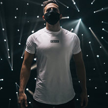 New Summer Sports T Shirt Men Gyms Fitness Short Sleeve T-shirt Male Quick-dry Bodybuilding Workout Tees Tops Men Clothing 2021