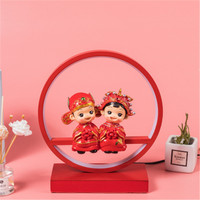 Creative Chinese Style Loves Wedding Table Lamp Home Practical Night Light Wedding Gift Marriage Room Decoration X4939