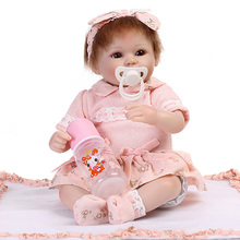Reborn Baby Doll 42 Cm Realistic Newborn Baby Dolls Reborn Lifelike Babies Handmade Toddler Dolls Toys Funny Gift for kids ivita 16inch 2kg boy eyes opened silicone reborn dolls baby alive realistic doll reborn dolls babies silicon kids dolls newborn