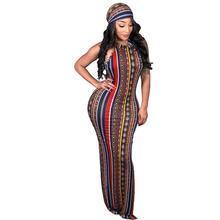 Adogirl 2020 Summer Women Casual Maxi Dresses Sleeveless Long Striped Printed