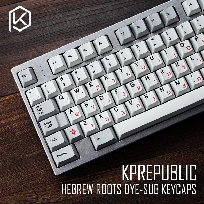 Kprepublic 139 Hebrew Root Font Letter Cherry Profile Dye Sub Keycap Set PBT For Gh60 Xd60 Xd84 Cospad Tada68 Rs96 87 104 Fc660