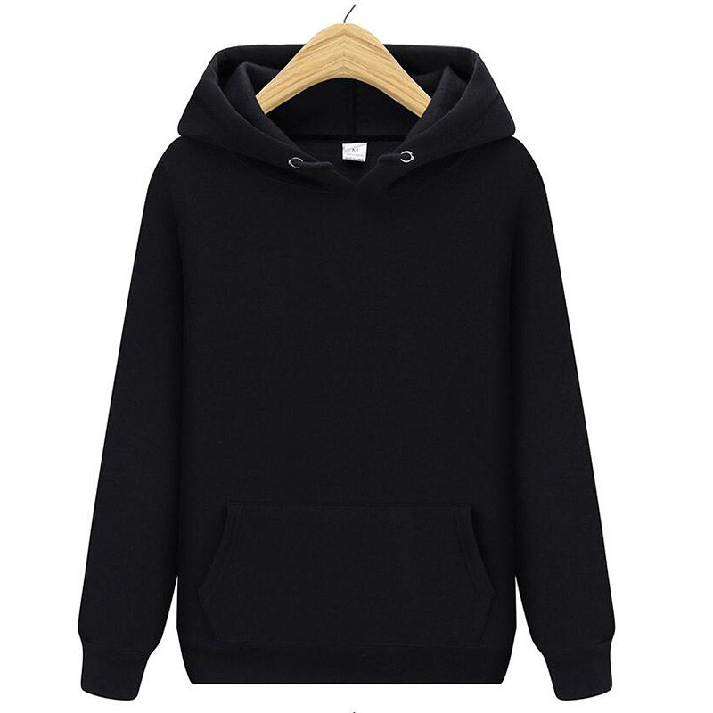 2019 Men's Fashion Solid Color Hoodie Autumn And Winter Male / Female Street Casual Wear Hip Hop Sweatshirt Hoodie Pullover